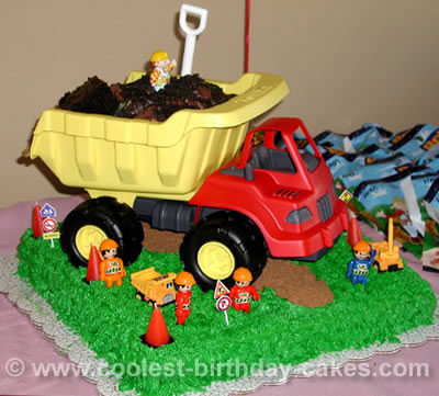 Excellent Coolest Homemade Bob The Builder Cakes Funny Birthday Cards Online Elaedamsfinfo