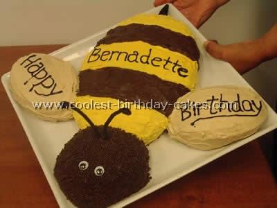 Fine Coolest Homemade Bumble Bee Cakes Personalised Birthday Cards Paralily Jamesorg