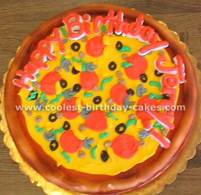 Super Awesome Homemade Pizza Cake Decorating Tips And Ideas Funny Birthday Cards Online Elaedamsfinfo