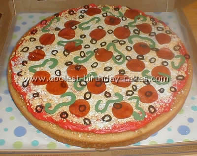 Wondrous Awesome Homemade Pizza Cake Decorating Tips And Ideas Funny Birthday Cards Online Alyptdamsfinfo