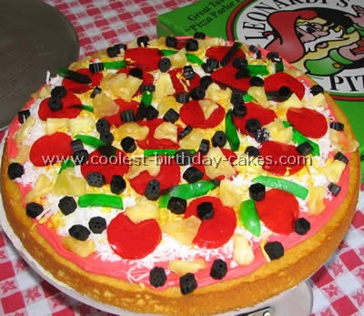 Sensational Awesome Homemade Pizza Cake Decorating Tips And Ideas Birthday Cards Printable Giouspongecafe Filternl