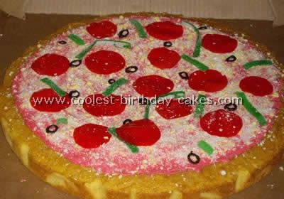 Swell Awesome Homemade Pizza Cake Decorating Tips And Ideas Funny Birthday Cards Online Alyptdamsfinfo