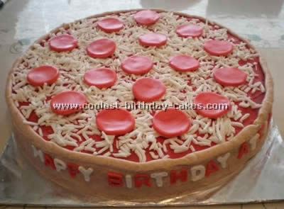 Brilliant Awesome Homemade Pizza Cake Decorating Tips And Ideas Funny Birthday Cards Online Alyptdamsfinfo