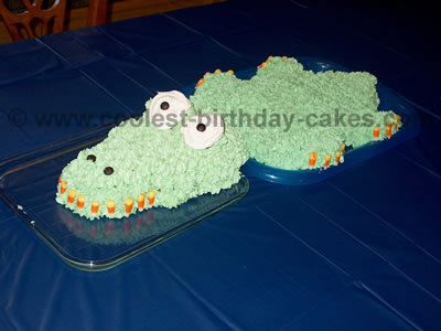 Coolest Alligator And Crocodile Cake Decoration Idea