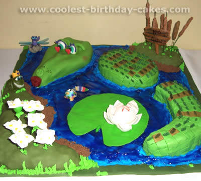 Enjoyable Coolest Alligator And Crocodile Cake Decoration Idea Funny Birthday Cards Online Alyptdamsfinfo