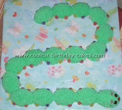 Caterpillar Birthday Cake Picture