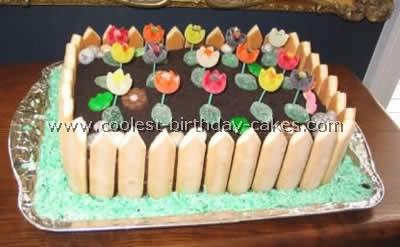 Garden Birthday Cake Picture
