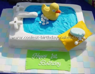 Enjoyable Coolest Homemade Rubber Ducky Cakes Funny Birthday Cards Online Alyptdamsfinfo