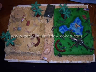 Admirable Coolest Homemade Army Scene Cakes Personalised Birthday Cards Paralily Jamesorg