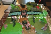Army Scene Cake Decorating and Designs