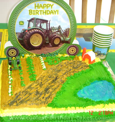 Groovy Coolest Ever Farming Tractor Cakes And Decorating Tips Funny Birthday Cards Online Fluifree Goldxyz