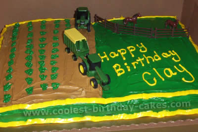 Fine Coolest Ever Farming Tractor Cakes And Decorating Tips Funny Birthday Cards Online Fluifree Goldxyz