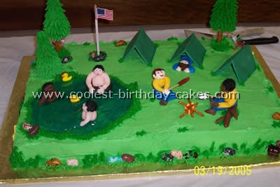 Super Coolest Camping Cake Ideas And Photos Birthday Cards Printable Opercafe Filternl