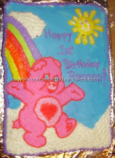 Sensational Coolest Care Bear Cakes Ideas And Photos Personalised Birthday Cards Vishlily Jamesorg