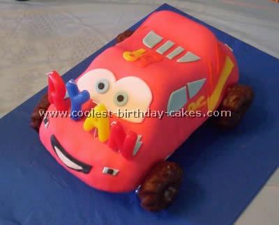 Lightning McQueen Cars Cake Decorations