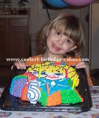 Rainbow Brite Cartoon Birthday Cakes