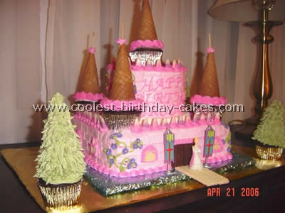 Princess Party Of Five Year Olds Castle Cake