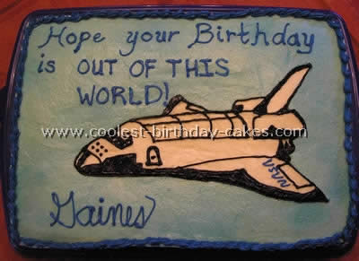 Miraculous Coolest Homemade Space Shuttle Cakes Personalised Birthday Cards Vishlily Jamesorg