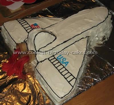 Tremendous Coolest Homemade Space Shuttle Cakes Personalised Birthday Cards Vishlily Jamesorg