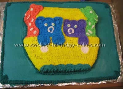 This Child Birthday Cake Was Fun To Make It For My Cousins Baby Shower I Bought A Noahs Ark Wilton Pan From EBay Did Not Think Would Be