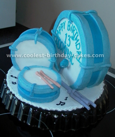 Cool Coolest Homemade Drum Cakes Funny Birthday Cards Online Overcheapnameinfo
