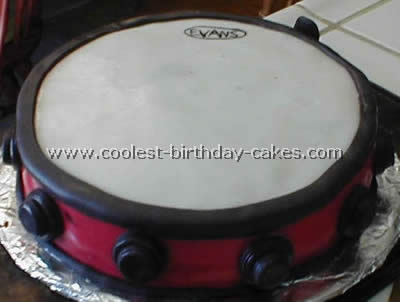 Surprising Coolest Homemade Drum Cakes Funny Birthday Cards Online Overcheapnameinfo