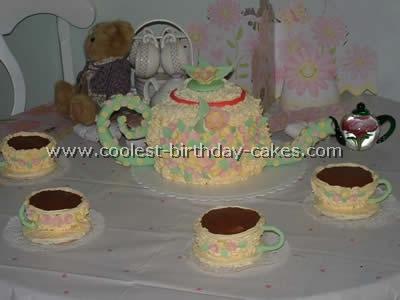 Teapot Childrens Birthday Cake Recipes