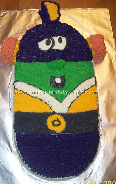 Larry Boy Childrens Cake Photo