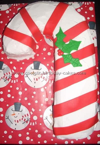 Coolest Candy Cane Christmas Cake Decoration Ideas