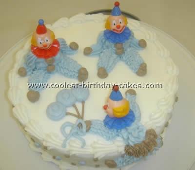 Circus Clown Cake