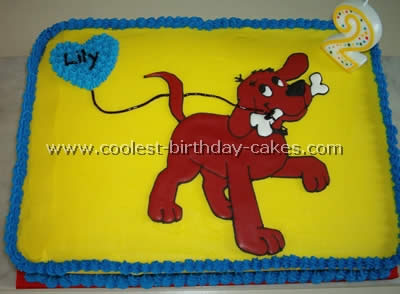Fantastic Coolest Homemade Clifford The Big Red Dog Cakes Personalised Birthday Cards Petedlily Jamesorg