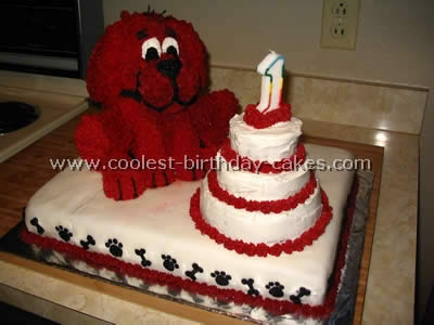 Pleasing Coolest Clifford The Big Red Dog Cakes And How To Tips Personalised Birthday Cards Petedlily Jamesorg