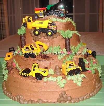 Cool Coolest Construction Birthday Cakes Personalised Birthday Cards Veneteletsinfo