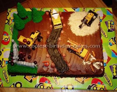 Construction Birthday Cakes
