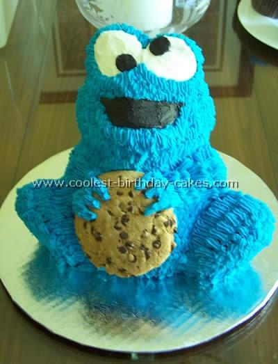 Cookie Monster Birthday Cake Photo
