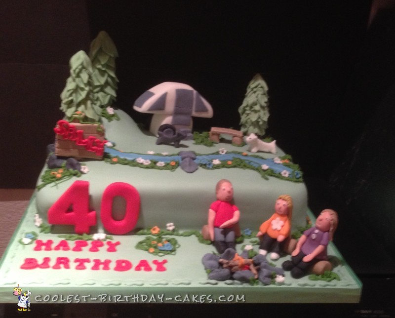 Astounding Coolest Homemade Camp Site Cakes Funny Birthday Cards Online Bapapcheapnameinfo