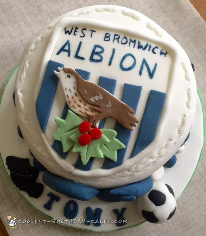 west bromwich albion badge cake
