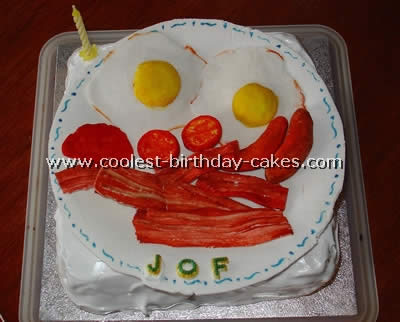 Miraculous Coolest Homemade Bacon Eggs And Toast Cakes Funny Birthday Cards Online Aboleapandamsfinfo
