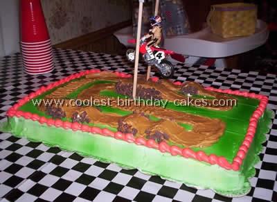 Fabulous Coolest Homemade Motocross Supercross Cakes Funny Birthday Cards Online Hendilapandamsfinfo