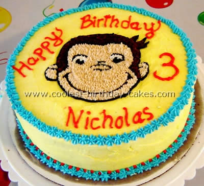 Prime Coolest Curious George Cakes Personalised Birthday Cards Beptaeletsinfo