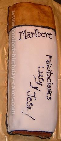 Cigarette Pack Cake