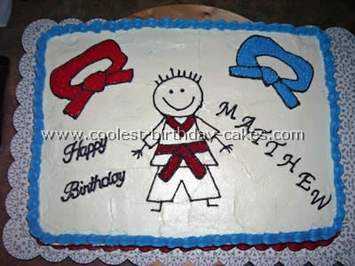 Coolest Martial Arts Decorated Birthday Cake Ideas