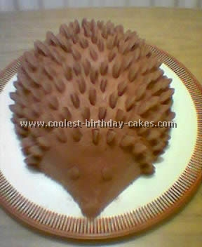 Hedgehog Decorated Birthday Cakes