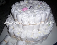 Diaper Cake Directions