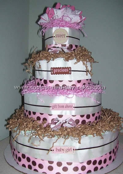 Diaper Cake Directions