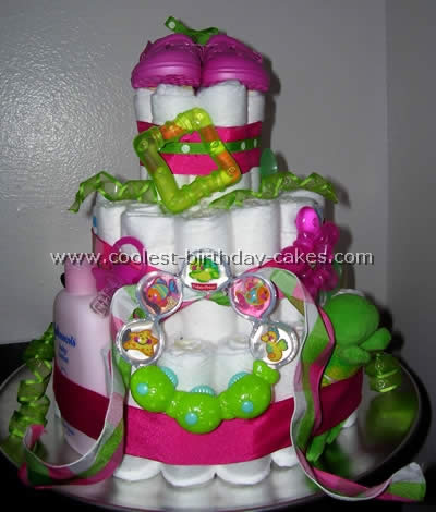 Coolest Diaper Cake Directions and Photos