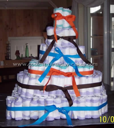 Coolest Diaper Cake Instructions And Photos