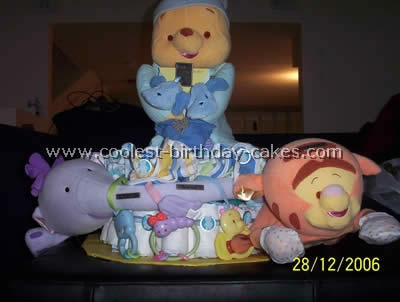 Coolest Diaper Cakes - Web's Largest Homemade Birthday Cake Photo Gallery