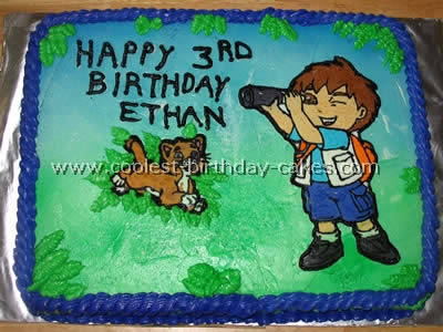 Peachy Coolest Diego Cake Ideas And Photos Funny Birthday Cards Online Alyptdamsfinfo