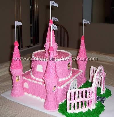 Astounding Coolest Disney Castle Cake Photos Personalised Birthday Cards Beptaeletsinfo